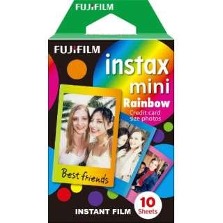 チェキ インスタントカラーフィルム instax mini 絵柄入りフレーム 「レインボー」 1パック(10枚入)