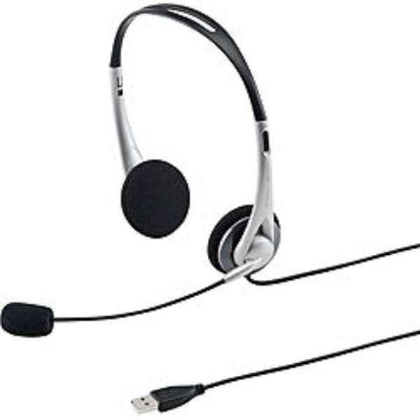 MM-HSUSB16SV ヘッドセット シルバー[USB /両耳 /ヘッドバンドタイプ]