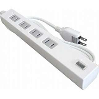 USB充電ポート付電源タップ (2ピン式・4個口+USB1ポート/2.0m ホワイト) TU1A42