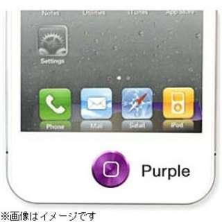 iPhone/iPad対応 iCharm Aluminium Home Button Accessory (パープル) [Sinra Design Works] HBA-AS001-PP