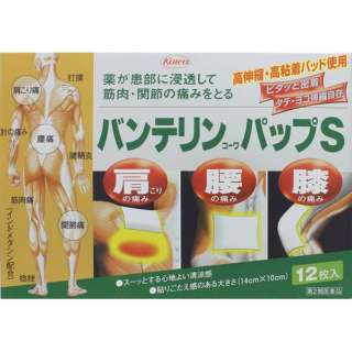 【第2類医薬品】 バンテリンコーワパップS(12枚) ★セルフメディケーション税制対象商品