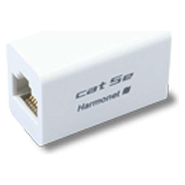 カテゴリー5e  中継アダプタ(ホワイト・1個入) HLA-T-SAP-5E-WH