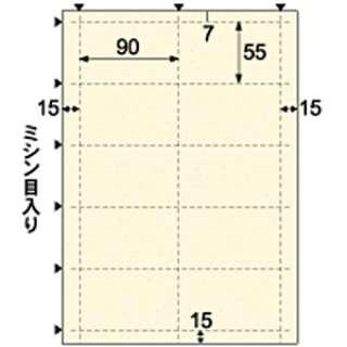 名刺・カード 50枚 (A4サイズ 10面×5シート) スター シャーベット BM422S