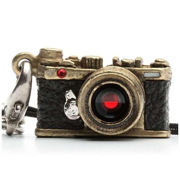 ミニチュアカメラストラップレンジファインダータイプ クラッシックブラス/レンズ スワロフスキー