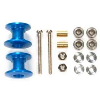 【ミニ四駆】軽量2段アルミローラーセット(13-12mm)ブルー