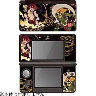 彩装飾シート 風神雷神<墨>【3DS】