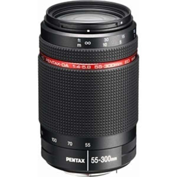 カメラレンズ HD PENTAX-DA 55-300mmF4-5.8ED WR APS-C用 ブラック [ペンタックスK /ズームレンズ]