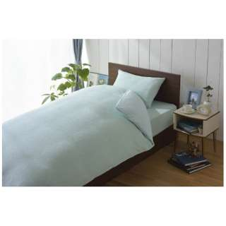 【ワンタッチシーツ】綿マイヤー シングルサイズ(綿100%/105×215cm/ブルー)【日本製】
