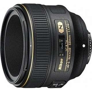 カメラレンズ AF-S NIKKOR 58mm f/1.4G NIKKOR(ニッコール) ブラック [ニコンF /単焦点レンズ]