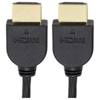 VIS-C20SL-K HDMIケーブル [2m /HDMI⇔HDMI /スリムタイプ /イーサネット対応]