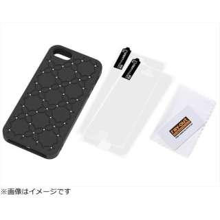 ea8f1456ba iPhone 5s/5用 シリコンジャケット フラワー・ジュエリー (ブラック) RT-P5SC14