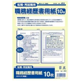 職務経歴書用紙 B5 SY101