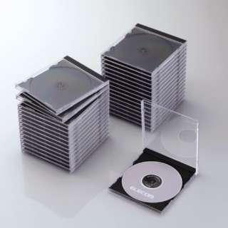 CD/DVD/Blu-ray対応標準ケース 1枚収納×30 ブラック CCD-JSCN30BK