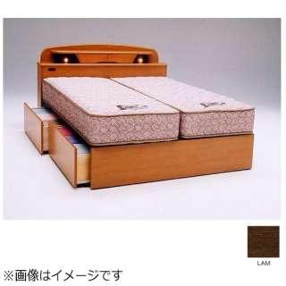 【フレームのみ】収納付き キャビネットタイプ ラルフ04C(セミダブルサイズ/ライトアンバー)【日本製】 フランスベッド