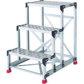 作業用踏台 アルミ製・縞板タイプ 天板寸法600X400XH900 TSFC369