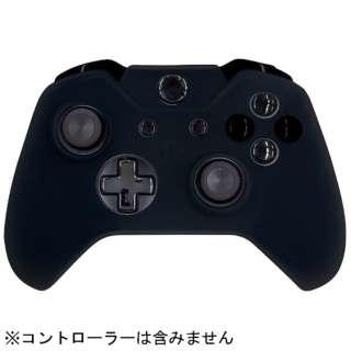 CYBER・コントローラーシリコンカバー(Xbox One用) クリアブラック【XboxOne】