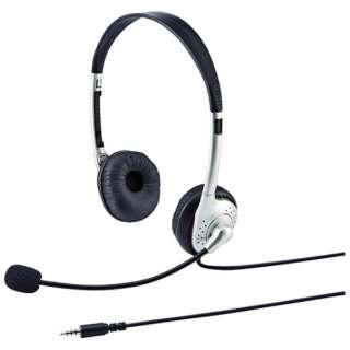 MM-HS525TABN ヘッドセット ホワイト [φ3.5mmミニプラグ /両耳 /ヘッドバンドタイプ]