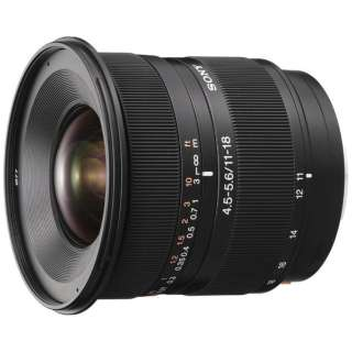 カメラレンズ DT11-18mm F4.5-5.6 APS-C用 ブラック SAL1118 [ソニーA(α) /ズームレンズ]