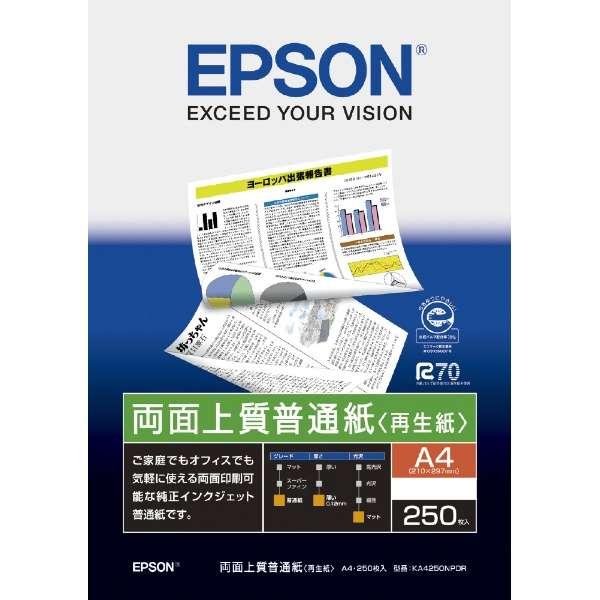 両面上質普通紙 【再生紙】 (A4・250枚) KA4250NPDR