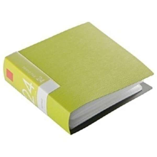 CD/DVDファイル ブックタイプ 24枚収納 グリーン BSCD01F24GR
