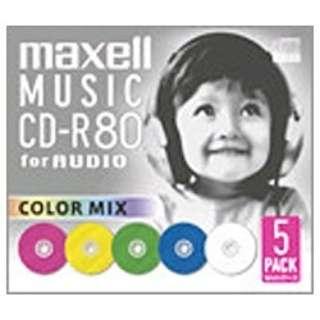 CDRA80MIXS1P5S 音楽用CD-R [5枚]