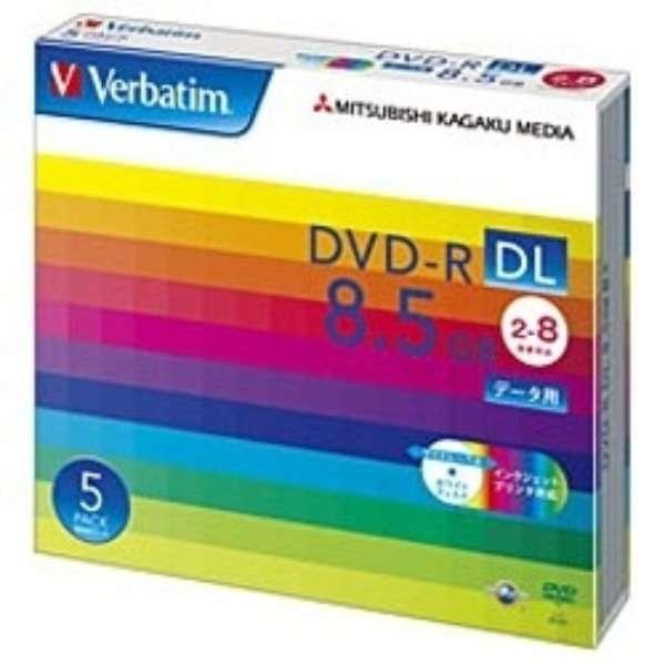 DHR85HP5V1 データ用DVD-R ホワイト [5枚 /8.5GB /インクジェットプリンター対応]