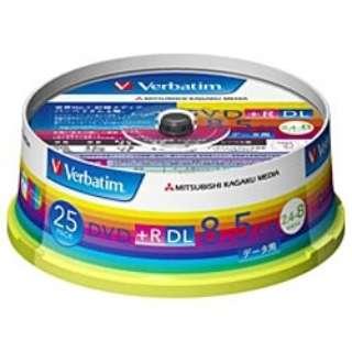 DTR85HP25V1 データ用DVD+R ホワイト [25枚 /8.5GB /インクジェットプリンター対応]
