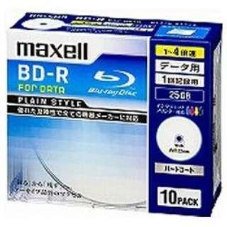 BR25PPLWPB.10S データ用BD-R PLAIN STYLE ホワイト [10枚 /25GB /インクジェットプリンター対応]