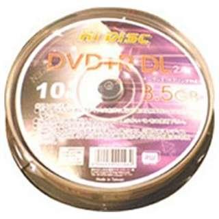 HDD+DL8524X10PC データ用DVD+R Hi-Disc [10枚 /8.5GB]
