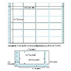 タックシール 100枚入 4×6 ドットプリンタ用