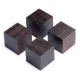 アフリカ黒檀製キューブベース (4個1組) QB-3