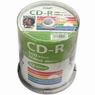 データ用CD-R Hi-Disc ホワイト HDCR80GP100 [100枚 /700MB /インクジェットプリンター対応]