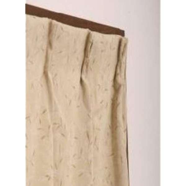 ドレープカーテン プチリーフ(200×178cm/ベージュ)