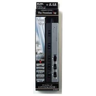 プレミアムタップ (2ピン式・5個口・1.5m・プラチナシルバー) WBS-3215B (SL)