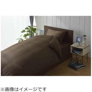 【ワンタッチシーツ】80サテン セミダブルサイズ(綿100%/125×215cm/ブラウン)【日本製】