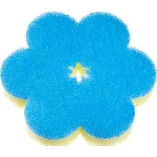 おはなスポンジ K364B ブルー〔たわし・スポンジ〕