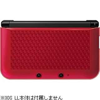 ニンテンドー3DS LL用 TPUカバー クリアレッド【3DS LL】