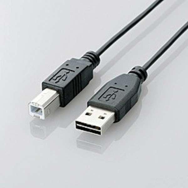 5.0m USB2.0ケーブル 【A】⇔【B】 [両面挿しタイプ] (ブラック) U2C-DB50BK