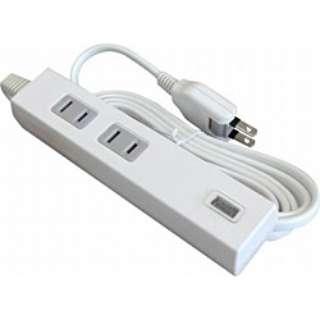 USB充電ポート付電源タップ (2ピン式・2個口+USB1ポート/3.0m ホワイト) TU1A22