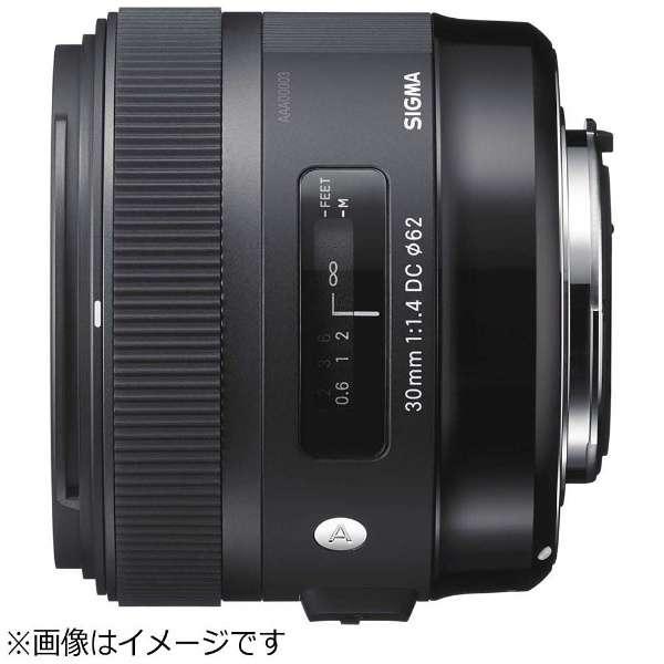 カメラレンズ 30mm F1.4 DC HSM APS-C用 Art ブラック [ニコンF /単焦点レンズ]
