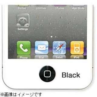 iPhone/iPad対応 iCharm Aluminium Home Button Accessory (ブラック) [Sinra Design Works] HBA-AS001-BK