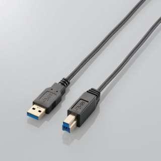1.0m USB3.0ケーブル 【A】⇔【B】 [極細タイプ] (ブラック) USB3-ABX10BK