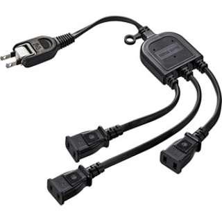 ACアダプタ専用電源延長コード (2ピン式・3個口・0.5m・ブラック) TAP-EX3BKN