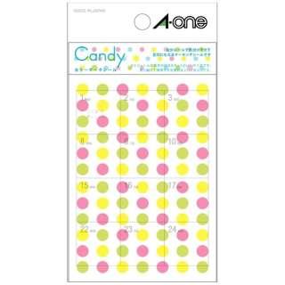 手帳用シール Candy キャンディ 05245 [1シート /84面 /マット]