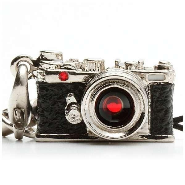 ミニチュアカメラストラップレンジファインダータイプ シルバー/レンズ スワロフスキー