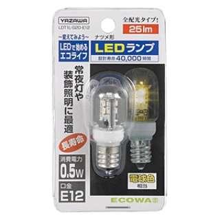LDT1L-G20-E12 LED電球 クリア [E12 /電球色 /1個 /ナツメ球形]