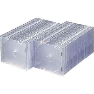 Blu-ray/DVD/CD対応スリム収納ケース 1枚収納×100 クリア FCD-PU100C