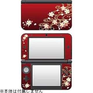 彩装飾シート 流水に桜【3DS LL】