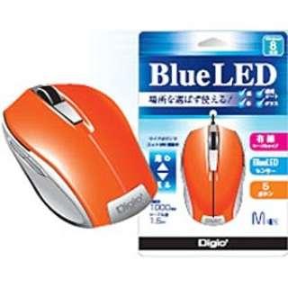 MUS-UKF90NDD マウス Digio2 オレンジ  [BlueLED /5ボタン /USB /有線]