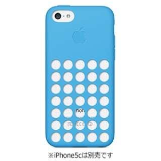 【純正】 iPhone 5c用 シリコンケース (ブルー)